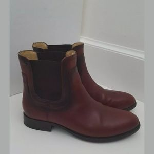 Frye Lindsay red brown leather chelsea boot 6.5 B